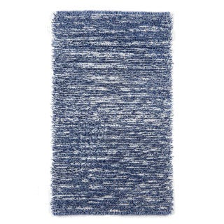 Hand-tufted Elle Denim Shag Rug (2'3 x 3'9)
