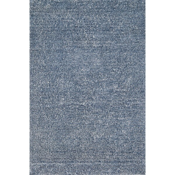 Hand-tufted Elle Denim Shag Rug (2'3 x 3'9)