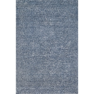 Hand-tufted Elle Denim Shag Rug (7'6 x 9'6)