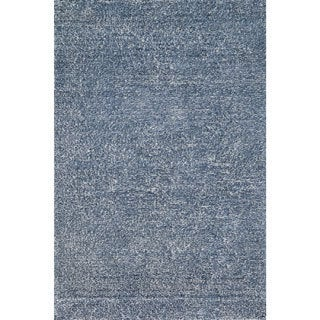 Hand-tufted Elle Denim Shag Rug (9'3 x 13)