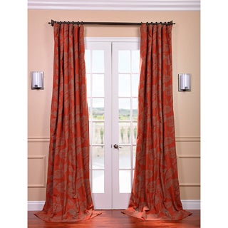 Bali Red Printed Cotton Curtain Panel