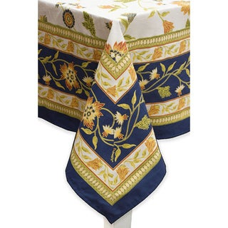 Mahogany Navy 'Nell' Tablecloth or Set of 4 Napkins