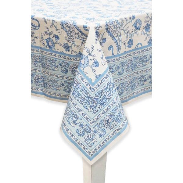 Mahogany 'Lisa' Cotton Printed Floral and Paisley Design Tablecloth