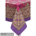 Mahogany Fuschia Mumtaz Tablecloth or Set of 4 Napkins