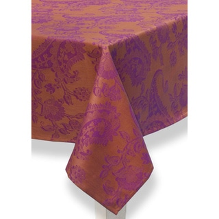 Mahogany Orange Paisley Jacquard Runner or Tablecloth or Placemats or Set of 4 Napkins