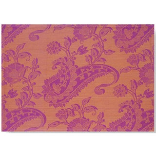 Mahogany Orange Paisley Jacquard Set of 4 Placemats