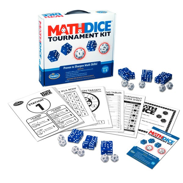 Think Fun Math Dice Tournament Kit