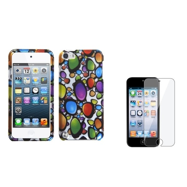 INSTEN Rainbow iPod Case Cover/ LCD Protector for Apple iPod Touch Generation 5