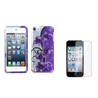 BasAcc Flower Case/ LCD Protector for Apple iPod Touch 5th Generation