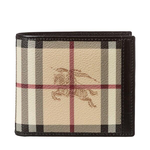 Burberry Haymarket Check ID Bi-fold Wallet