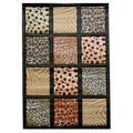 Animal Print Patchwork Area Rug (5' x 7')