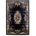 Traditional Oriental Black Area Rug (5' x 7')