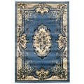 Traditional Oriental Blue Area Rug (5' x 7')