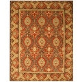 Hand-tufted Khyber Red Twisted Wool Rug (8'9 x 11'9)