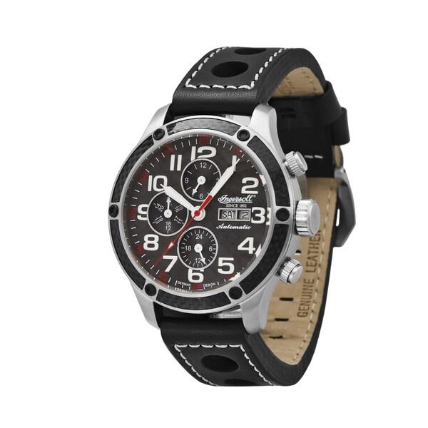 Ingersoll Men's Potomac Black Leather Strap Automatic Watch