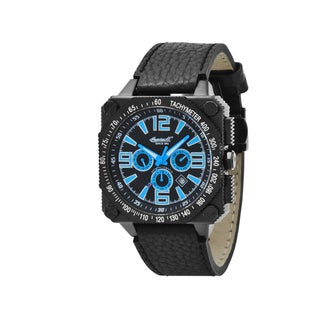 Ingersoll Men's Bison No. 20 Black Leather Strap Automatic Watch