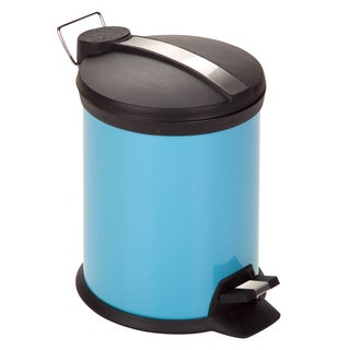 Blue Metal 3-liter Step Trash Can