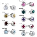 Miadora Sterling Silver Birthstone Earrings