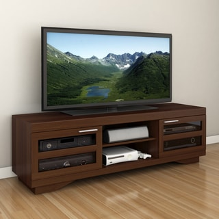 Sonax Granville Warm Cinnamon Wood Veneer 66-inch TV Bench