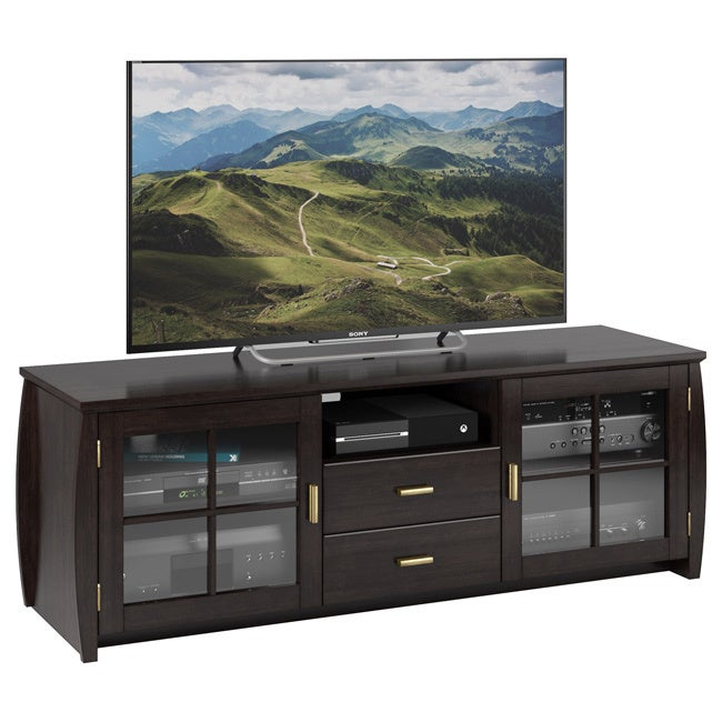 Sonax Washington Mocha Black 59-inch Wood Veneer TV/ Component Bench at Sears.com