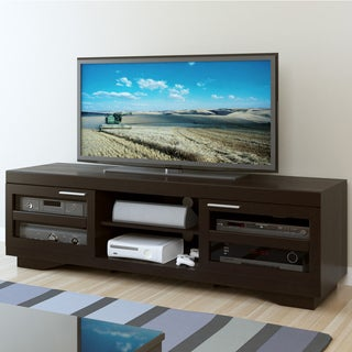 Sonax Granville Mocha Black Wood Veneer 66-inch TV Bench