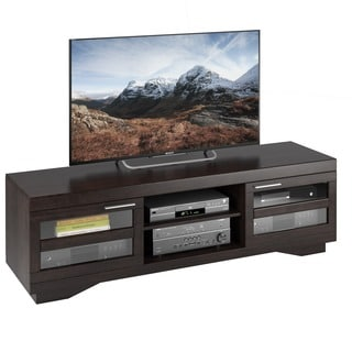 Sonax Granville Mocha Warm Cinnamon Wood Veneer 66-inch TV Bench