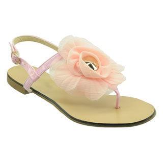 Ann Creek Women's 'Largo' Pink Floral Sandals