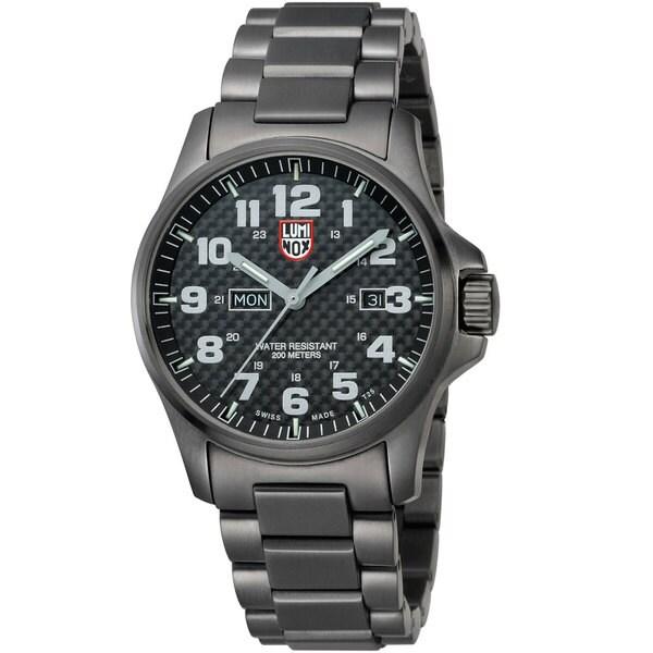 Luminox Men's A.1922 'Atacama' Carbon Fiber Dial Black Stainless Steel Watch