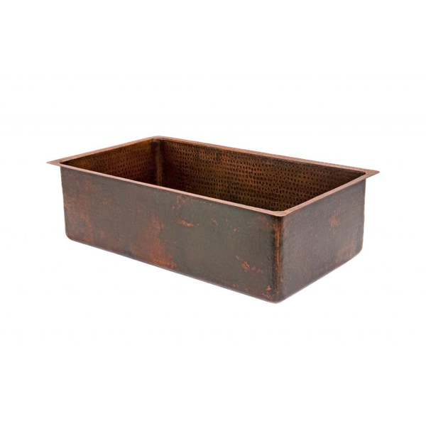Hammered Copper 30-inch Single Basin Kitchen Sink