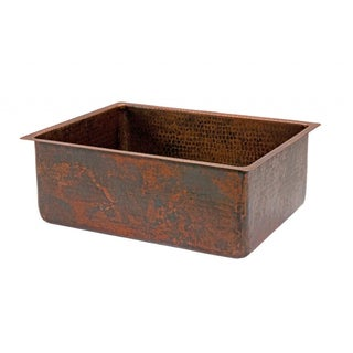 Hammered Copper 25-inch Single Basin Kitchen Sink