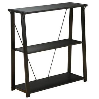 Orion Black Three-shelf Metal Bookcase