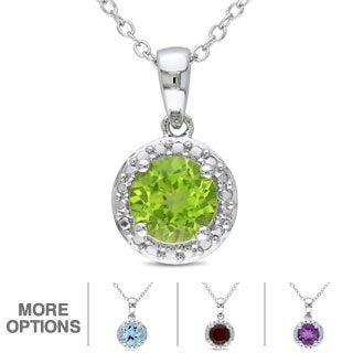 M by Miadora Sterling Silver Birthstone Necklace