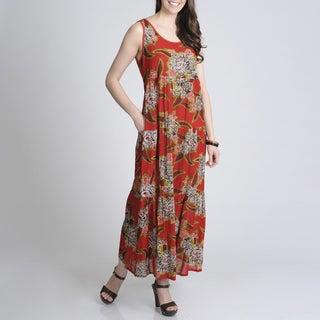 La Cera Women's Printed Casual Floral Dress
