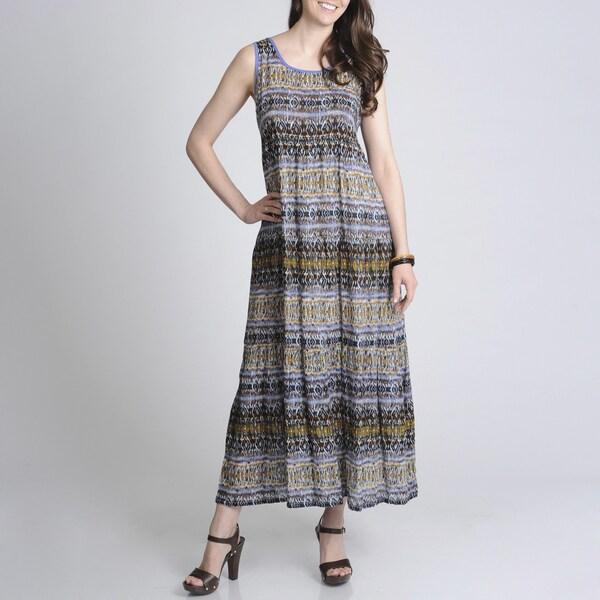 La Cera Women's Printed Casual Dress