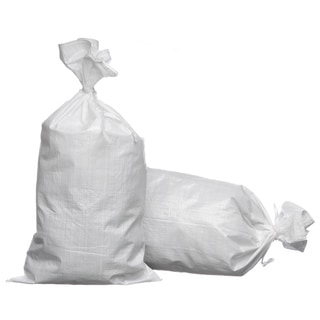 Trademark 18 x 30 Woven Polypropylene Sand Bags with Ties and UV Protection