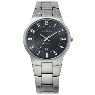 Skagen Men's Titanium Gunmetal Dial Watch