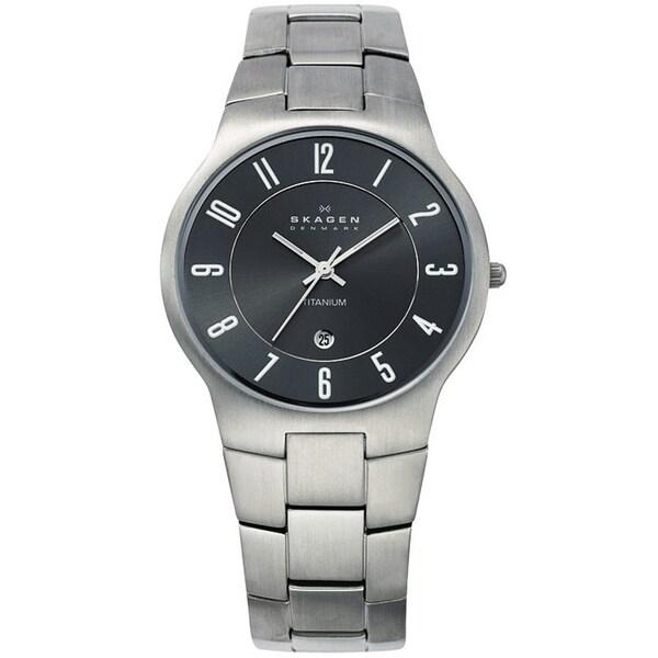 Skagen Men's Titanium Gunmetal Dial Watch