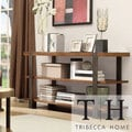 TRIBECCA HOME Lawson Brass and Reclaimed Wood Sofa Table