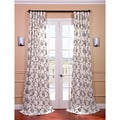 Impressions Grey Printed Cotton Curtain Panel