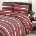 Stone Cottage Fresno Red Cotton 3-piece Quilt Set