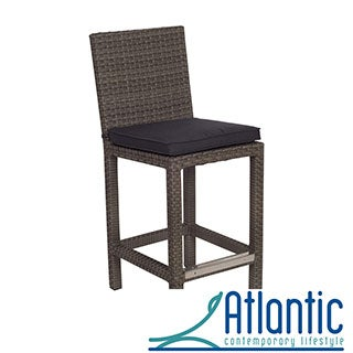 Olivia Grey Wicker Outdoor Barstools (Set of 2)