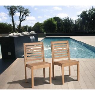 Amazonia Amzonia Eucalyptus Wood Stackable Side Chairs (Set of 2)