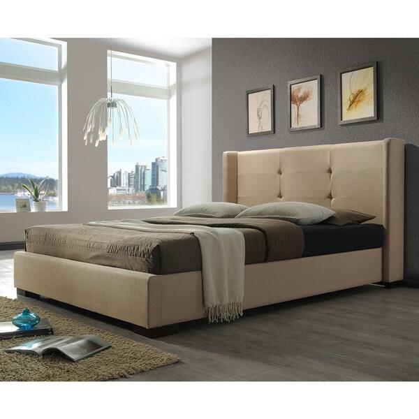 DG Casa Braden Cream Fabric-wrapped Bed