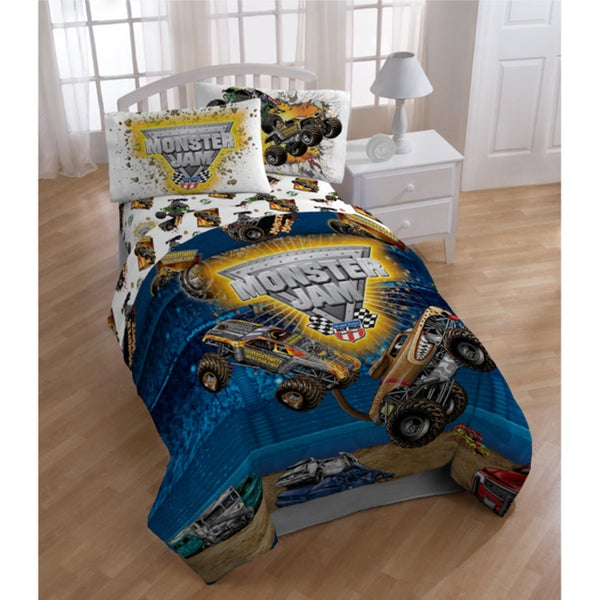 monster jam 39 destruction 39 5 piece bed in a bag with sheet