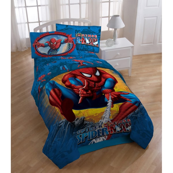 Spiderman 'Burst' Printed 5-piece Bed in a Bag with Sheet Set