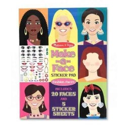 Make-a-Face Sticker Pad: Fashion Faces (Paperback)