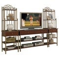St. Ives 3-piece Media Entertainment Center Cinnamon Cherry Finish