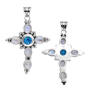 Sterling Silver Bali Cross Pendant (Indonesia)