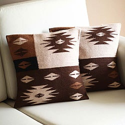 Set of 2 Alpaca 'Starlight on Earth' Cushion Covers (Peru)