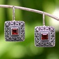 Sterling Silver 'Adoration' Garnet Earrings (Indonesia)